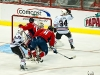 Ovechkin and Brouwer Crash