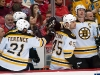 Chara, Stuart, & Ference Celebrate on Bench