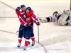 Perreault Gets Hockey Hug From Semin for Hat Trick