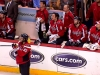 Ovechkin Watches Scoreboard