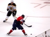 Ovechkin Tries to Shoot Past Chara
