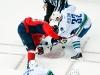 Steckel and Henrik Sedin Face Off