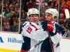Backstrom and Knuble Celebrate Knuble's Goal in Anaheim