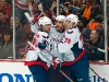 Johansson, Laich and Smein Celebrate Laich's Goal