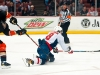 Ovechkin Scores While Being Halued Down