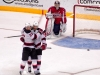 Neuvirth Watches the Devils Celly