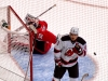 Parise Scores Second Neuvirth Throws Puck