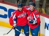 Johansson and Smein Celebrate Semin's Goal