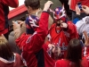 Caps Fans in Wrestling Masks