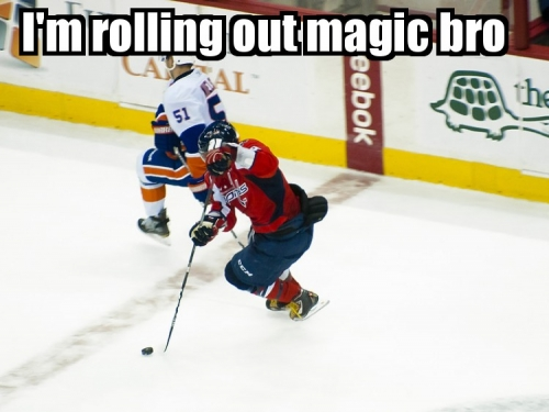 I'm rolling out the magic, bro.