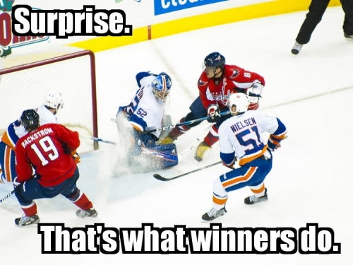 Surprise. That's what winners do.