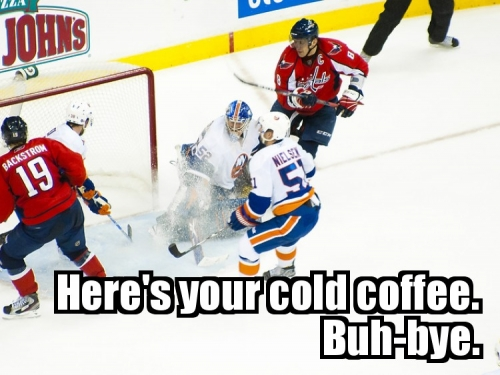 Here's your cold coffee. Buh-bye.