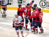 Capitals Celebrate Goal to Get Them In The Game