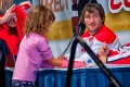 WASHINGTON, DC - October 2, 2010:  Alex Ovechkin of the Washington Capitals signs the cast of a little girl at the 2010 Caps Convention held at the Washington Convention Center.