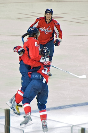 Ovechkin and Green Celebrate #65
