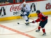 Perreault Eyes Puck with Lecavalier