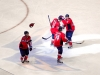 Laich Congratulating Brouwer on Hat Trick