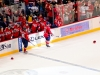 Caps Bench Celebrate\'s Wideman\'s Hat Trick