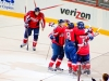 Celebrating Backstrom\'s Power Play Goal