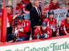 Ovechkin Checks Arm on Bench
