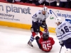 Perreault Falls in Front of Grabovski