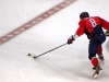 Ovechkin Pushes Puck Up Ice