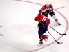 Campbell Tries to Stop Ovechkin Shot
