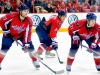 Alzner Ovechkin and Laich Wait For Faceoff
