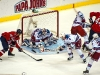Lundqvist About to Pounce On Puck