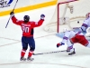 Johansson Celebrates Goal on Biron