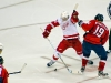 Datsyuk Holds Backstrom\'s Stick