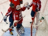 Ovechkin and Vokoun Chest Bump After Win Over Red Wings