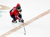 Semin Crosses Center Ice With Puck