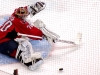 Holtby Kncks Down Puck