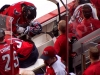 Ovechkin Gathers Thoughts at Bench