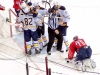 Sabres Celebrate in Holtby's Crease