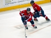 Backstrom With Puck in Front of Ovechkin