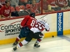 Ovechkin and Gonchar Race for Puck