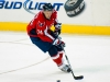Carlson Skates WIth the Puck in Capitals Zone
