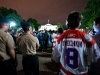 An Ovechkin Jersey In The Crowd Outside the White House