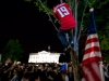 Caps Fan Climbs Down From Tree In Front of White House