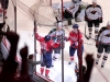 Celebrating Perreault\'s Goal