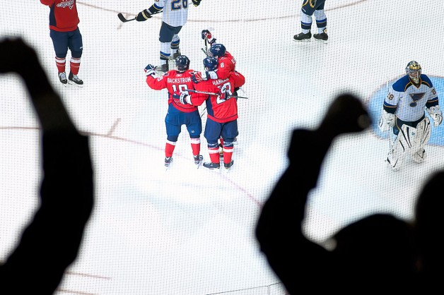 Capitals Celebrate and Fans Cheer