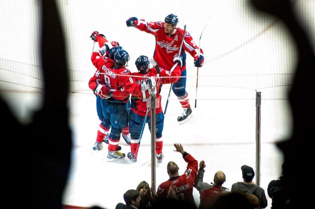 Celebrating Collins Goal