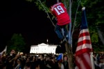Caps Fans Outside the White House