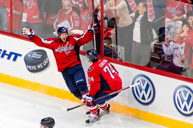 Laich and Carlson Celebrate Winner #2